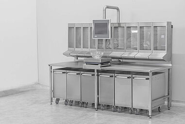 Example picture manual ingredient weighing table
